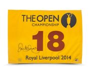 Rory Mcilroy Signed Autographed 2014 The Open Championship Pin Flag /100 Uda