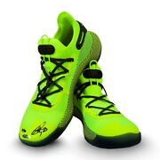 Stephen Curry Signed Autographed Under Armour Shoes Green Warriors /30 Uda