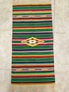 Southwest Vintage Mexican Latino Native American Indian Shawl Colorful Textiles