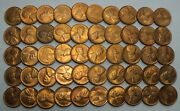 1948-s 1c Cent Lincoln Wheat Full Roll 50 Coins Penny Lot Set Uncirculated Lg272