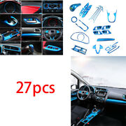 Abs Blue Automobile Interior Decor Full Set Fit For Honda Fit Jazz 2014-2020