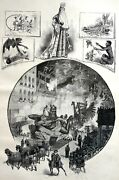 St. Louis Missouri 1885 Veiled Vailed Prophet Pass Southern Hotel Matted Print