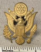 Vintage Wwii Us Military Uniform Badge Pin Army Officer Hat United States Eagle
