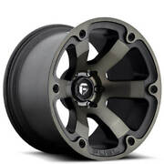 20x12 Fuel Wheels D564 Beast Black Machined W Dark Tint Off Road Rimss41