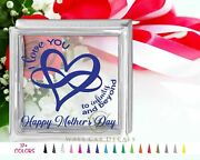 Love You Infinity And Beyond Glass Block Decal Motherand039s Day Craft Sticker Holiday