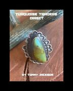 Tommy Jackson Royston Turquoise And Sterling Silver Ring Size 9.75 Signed