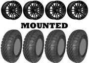 Kit 4 Ams M4 Evil Tires 30x10-14 On Msa M40 Rogue Machined Wheels Can