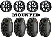 Kit 4 Gmz Ivan Ironman Stewart Tires 32x9.5-14 On Msa M12 Diesel Black Sra