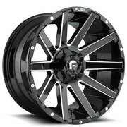 20x10 Fuel Wheels D615 Contra 8x180.00 Gloss Black Milled -18 S42