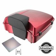 Velocity Red Sunglo Chopped Tour Pack Backrest For 97+ Harley Flhr Flhxs Fltrx