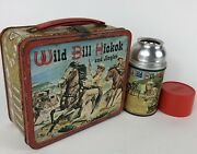 Vintage Wild Bill Hickok And Jingles Lunchbox And Thermos C9 R6 No Reserve 1955