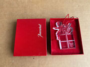 Baccarat Crystal Ornament Angel And Present Hanging Christmas Noel 97 W/ Box Set