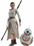 Used Hot Toy Movie Masterpiece Star Wars The Force Awakens Rey And Bb-8 Set 1/6