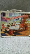 Vintage 1968 Chitty Chitty Bang Bang Metal Lunch Box With Thermos