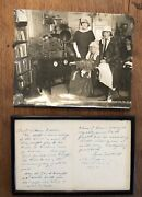 Original Poet Ina Coolbrith Hand Written Poem And Letter To Aviator Lillian Gatlin