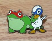 Genuine Disney 2005 Stitch Super Trader Lanyard Frog And Duck Pin Only Read