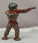 Barclay Pod Foot Sharpshooter Sniper Soldier Lead Metal Toy Bss1