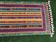 Hand Knotted Wool Afghan/turkish Runner Rug Gorgeous Vibrant Purple New 3 X 7