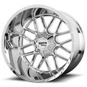 22x12 Moto Metal Wheels Mo986 Siege 8x180 Chrome Off Road -44 S43
