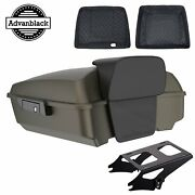 River Rock Gray Denim Chopped Tour Pack Mount Rack For 1997-2020 Harley Touring