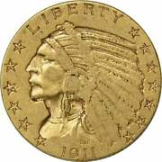 1911 5 Gold Indian Vf Uncertified
