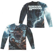 Dungeons And Dragons Monster Manual Cover Front And Back Adult Long Sleeve T-shirt