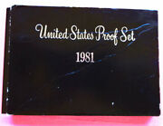 1981-s United States Proof Set In Original Black Box With 6 Uncirculated Coins