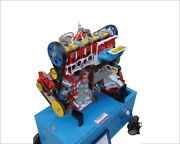 4 Stroke 4 Cylinder Diesel Engine Motor Driven Actual Cut Section Working Model