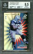 1998 Pinnacle Inside Conference Clash Test Issue Nfc2 Emmitt Smith Bgs 8.5
