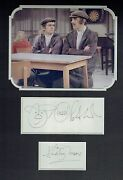 Peter Cook And Dudley Moore 16x12 Mounted Pete And Dud Presentation Aftal/uacc Rd