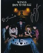 Paul Mccartney And Wings Photo Signed Lyrics By 3 In Person