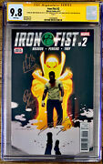 Iron Fist 2 In Nm/mint Cgc 9.8 Signature Ss Comic Signed By Roy Thomas And More