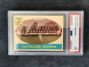 Jim Brown With 1958 Topps Cleveland Browns Team Psa 7 Jb '58t62rc Sold20,000
