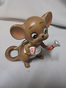 Josef Originals Mouse, School Teacher With Bell And Abc Book 2.75 Tall Vintage