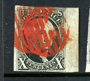 Scott 2 Washington Imperf Used Stamp W/pf Cert 2-35 Red Paint Mobile Al Cancel