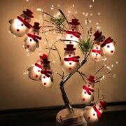Christmas Tree Decoration Xmas Hanging Gift Outdoor Ornaments Snowman Led Lghts