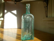 Hall's Balsam For The Lungs Scovill And Co Cinti Andny 1868 Crude Applied Lip Bottle