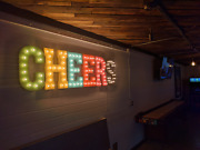 Cheers Bar Pub Tavern Drinks New Year Rustic Vintage Metal Marquee Light Up Sign