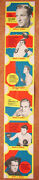 1952 Bread For Energy Label Proof Strip Otto Graham Alan Ladd Bing Crosby Boxing