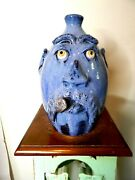 Billy Joe Craven Face Jug Pottery Folk Art 11and039and039x7and039and039