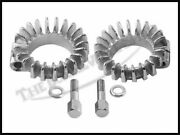 Triumph 350 500 1 5/8 Uk Made Finned Exhaust Clamps W Hardware 2 Pn 70-4947