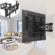 32-65 55 60 Wall Tv Mount Flexible Full Motion Swing Dual Long Arm Bracket Home
