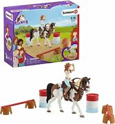 New Schleich 42441 Hannah's Western Riding Set Girl Tennessee Walker Mare Saddle