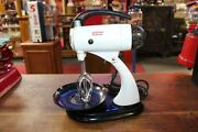 1930s Vintage Sunbeam Power Mixer Model With Bowls And Juicer Top Set