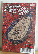 Amazing Spiderman 700 Dynamic Exclusive Signed Stan Lee Death Of Peter Parker