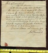 Governor Jonathan Trumball Sr Penned And Signed 1781 Revolutionary War Dated Order