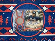 2018 Topps Holiday Ronald Acuna Game Used Rpa /10 Auto Relic