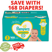 Pampers Swaddlers Disposable Size 3 16-28lbs Baby Diapers 168 Count Month Supply