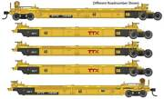 Walthers Ho Scale Thrall 5-unit Rebuilt 40' Well Car Ttx/dttx/red Logo 748535
