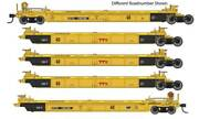 Walthers Ho Scale Thrall 5-unit Rebuilt 40' Well Car Ttx/dttx/red Logo 748259